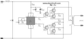 100W DC Power Inverter Circuit diagram
