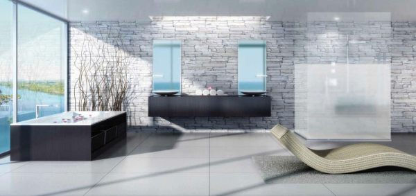 400 Sunny Isles Master Bathroom