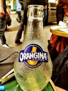 Vanessa's fascination with Orangina