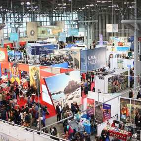 Saturday coverage of the New York Times Travel Show.(Photo by Sandy Huffaker)