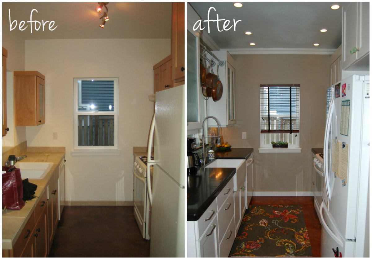 small kitchen diy ideas before after remodel pictures of tiny kitchens small kitchen remodel Small Kitchen DIY Makeover remodel idea before and after pictures