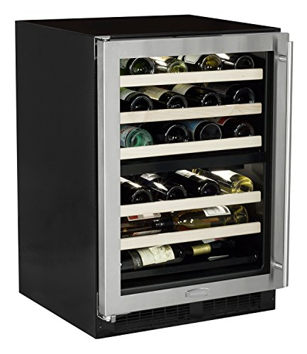 Marvel ML24WDG2LS Dual Zone Wine Cellar, Left Hinge, 24-Inch, Stainless Steel
