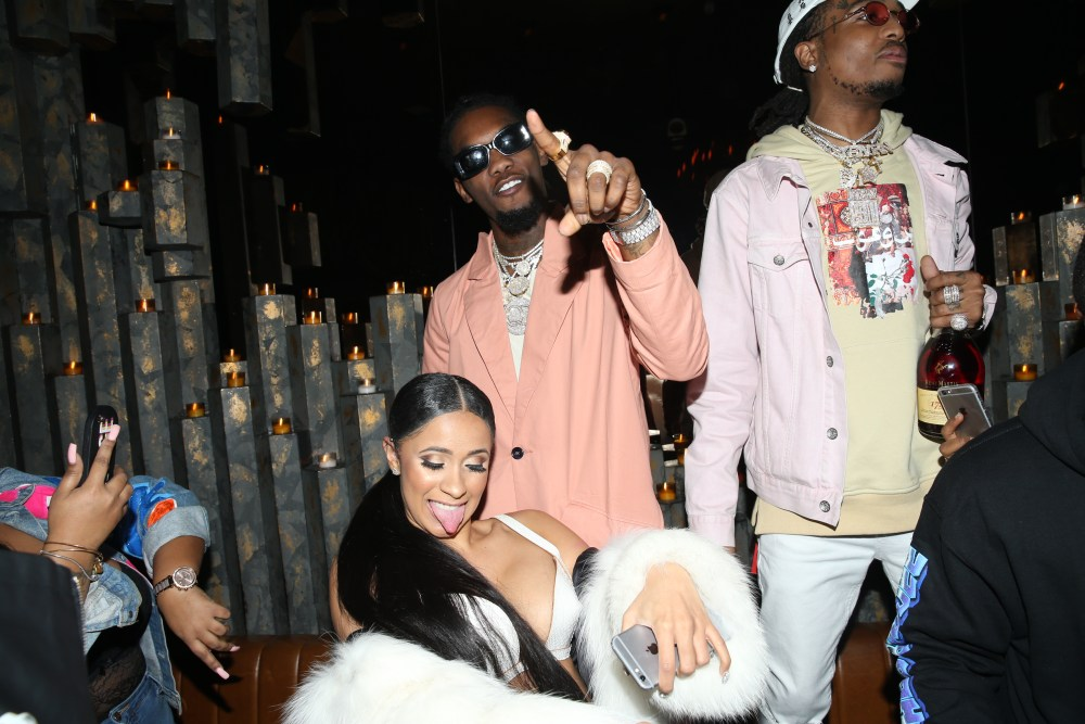 offset gifts cardi b with new chain