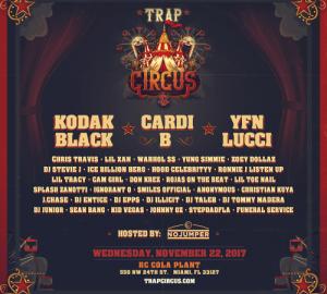 cardi b kodak black and yfn lucci headline miami trap circus