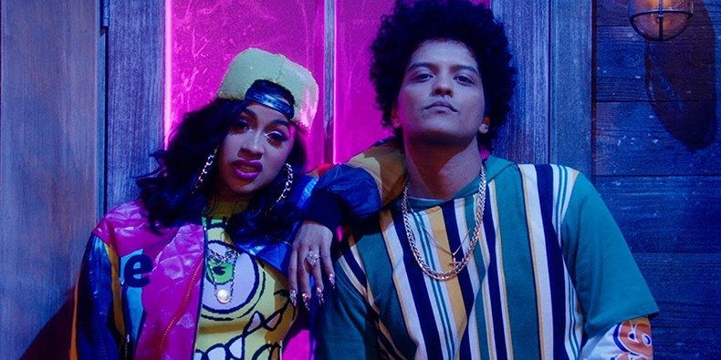 bruno mars and acardi b finesse remix video
