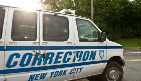 A New York City Corrections van carrying