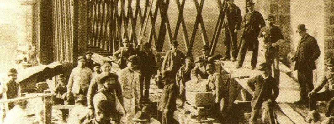 Maestranze al ponte San Michele di Paderno d'Adda (1888)