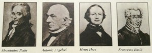 I Professori nella commissione d'esame che rifiutò Giuseppe Verdi al Conservatorio (Foto Collezione Francesco Fava - Trezzo)