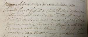 1668 - Rolla, Giuseppe Francesco di Carlo Antonio, Battesimo (Archivio Parrocchiale Vedano al Lambro)