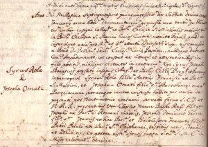 1750 - Rolla, Siro di Antonio Francesco cg. Omati Giuseppa