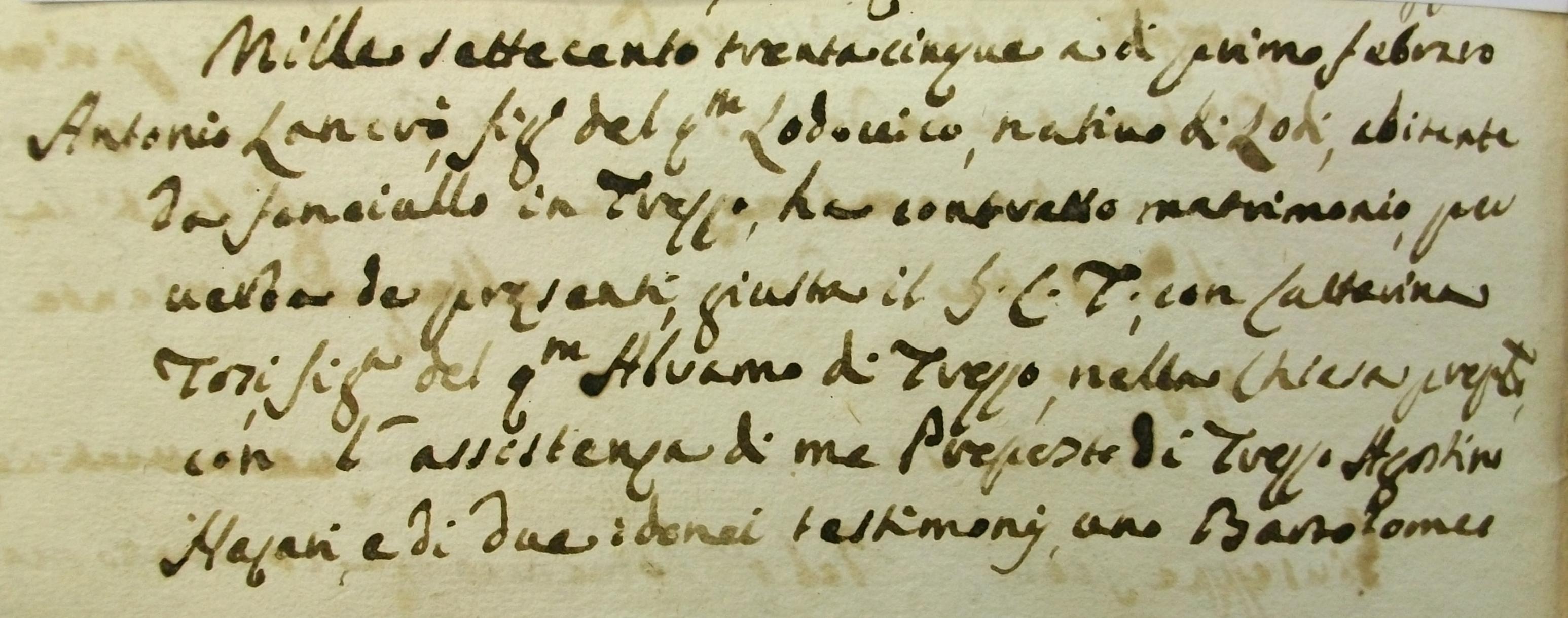 Genealogia Lancrò, dalla spada alla pacifica bottega