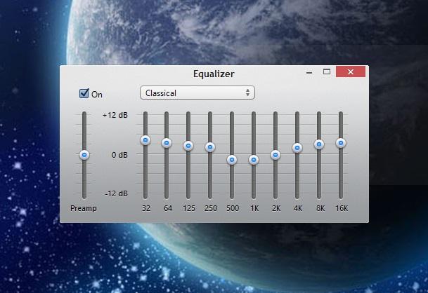iTunes 11 equalizer main