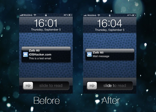 mail previews iOS
