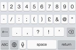 ios 7 keyboard puncuation
