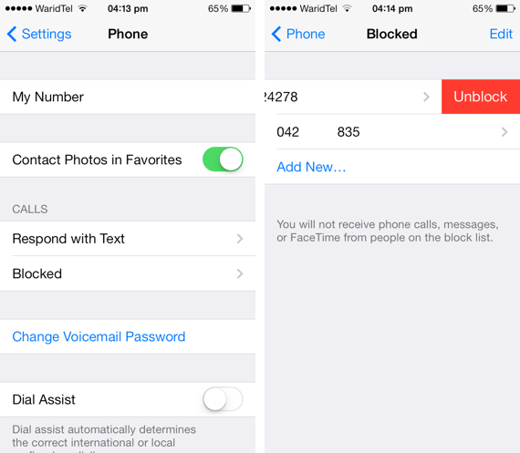 How to unblock a blocked phone number on a cell phone