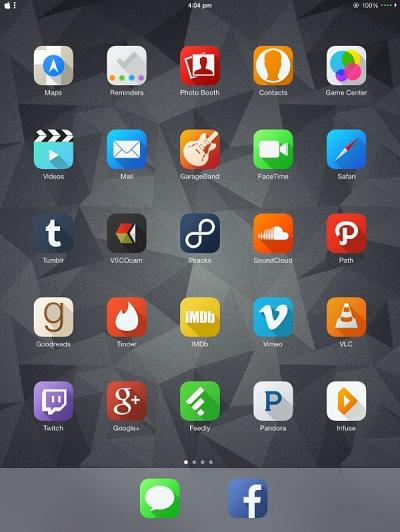 Solstice theme for iPad