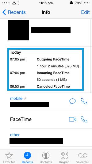 Facetime data 1
