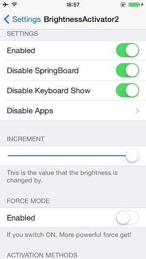 Brightness Activator 2 tweak