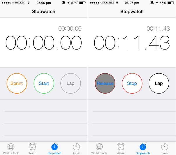 Sprint Timer tweak