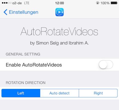 AutoRotateVideos tweak