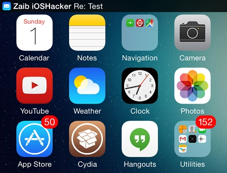mail notifications iOS