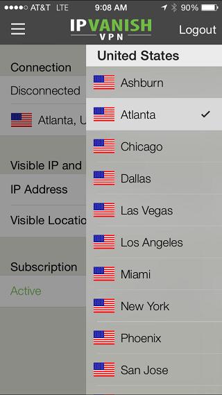 IPV iOS Server Selection