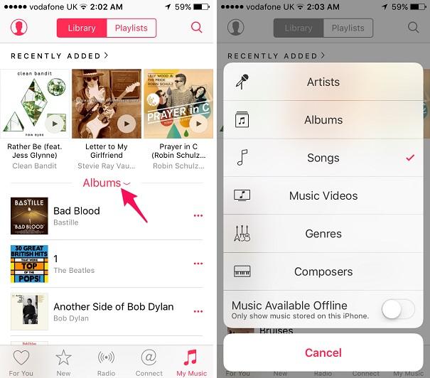 Music app shuffle