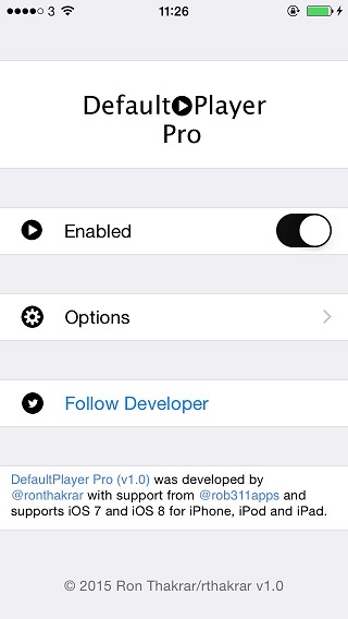 DefaultPlayer Pro tweak