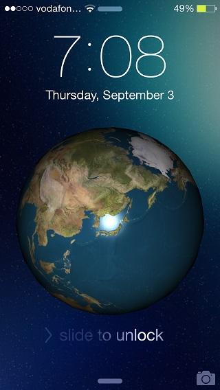 Earth Lockscreen tweak 1