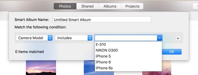 Photos app Smart albums