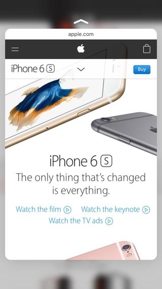 Safari preview 3D Touch