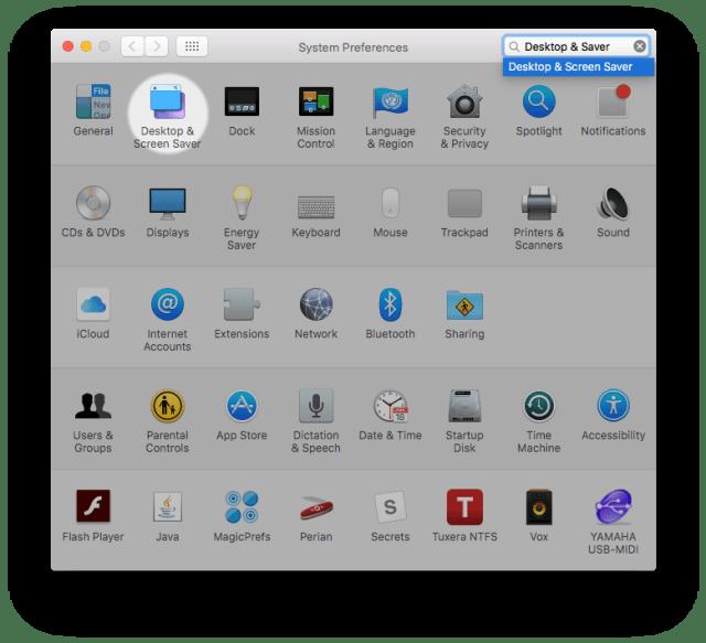 Desktop & Screen Saver