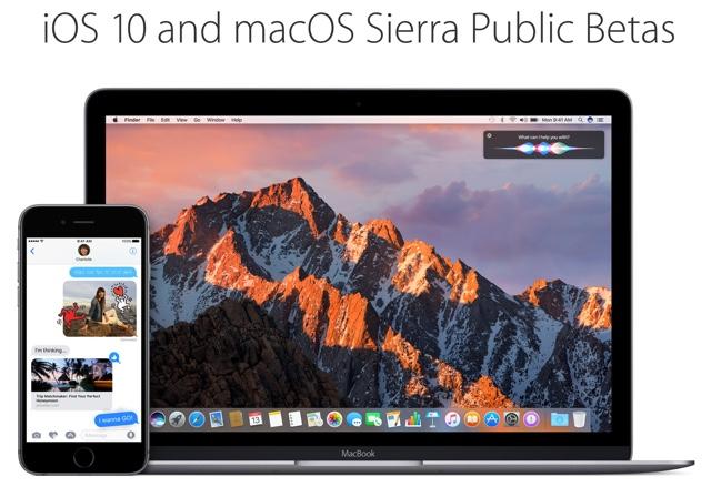 Public beta iOS 10 macos