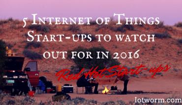 Best IoT startup in 2016