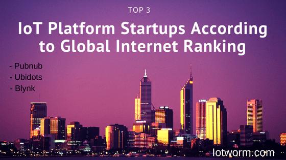 Top best Internet of Things startup platforms