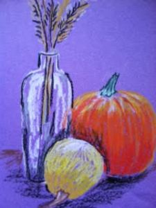 Nature Drawing Class using Oil Pastels  — Fall Fruits