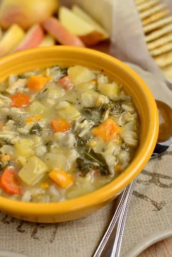Crock Pot Chicken & Barley Vegetable Stew | iowagirleats.com