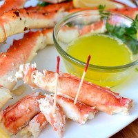 Drunken Alaska King Crab Legs
