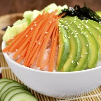 Vegetable Sushi Roll in a Bowl