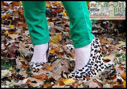 green + denim + leopard // LLinaBC.com
