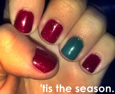 bad mani into an xmas mani