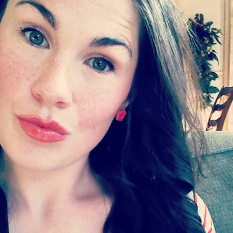 lipstick & hair done
