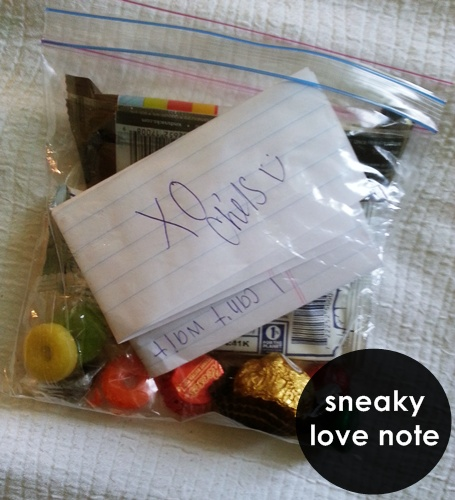 sneaky love notes.