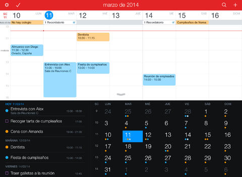 Fantastical 2 para iPad - Calendario y Recordatorios