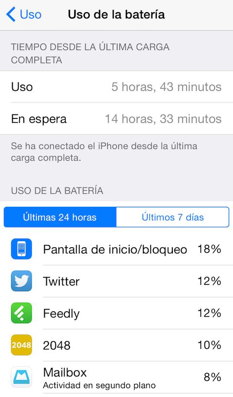 uso bateria