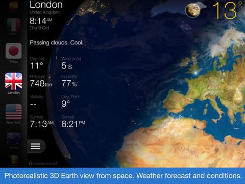 Weather Now. El tiempo ahora - Pronóstico y 3D de la Tierra