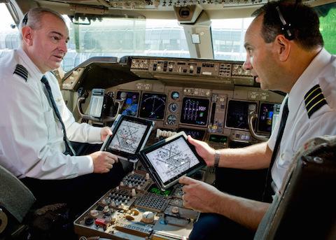 avion vuelo piloto iPad