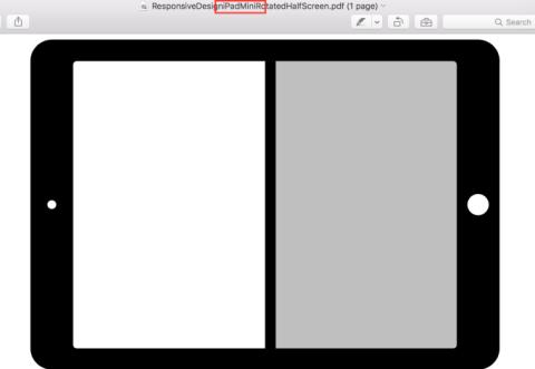 iPad mini split view