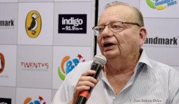 Ruskin Bond at Landmark. Photo: Jim Ankan Deka