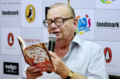 Ruskin Bond at Landmark (Photo: Jim Ankan Deka)